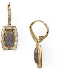 Nadri - Gris Drop Earrings - Lyst