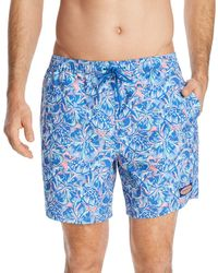 Vineyard Vines - Chappy Tropical Turtle & Floral-print Swim Trunks - Lyst