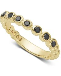 Lagos - Black Diamond Caviar Stacking Ring - Lyst