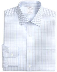 Brooks Brothers - Tonal Windowpane Check Regular Fit Dress Shirt - Lyst