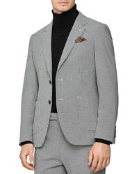 Reiss Napeoleon Houndstooth Regular Fit Blazer - Gray
