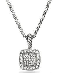 David Yurman - 'albion' Pendant With Diamonds On Chain - Lyst