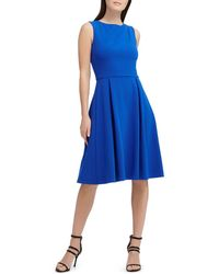 Donna Karan - New York Scuba Crepe Pleat-detail Dress - Lyst