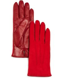 Bloomingdale's - Cashmere - Lined Suede Tech Gloves - Lyst
