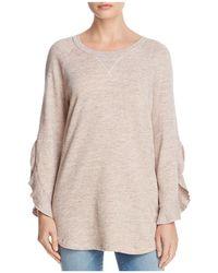 Ella Moss | Ruffle-sleeve Sweatshirt | Lyst