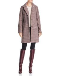 Bernardo - Notched Collar Plaid Coat - Lyst