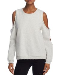 Honey Punch - Cold-shoulder Cutout Sweatshirt - Lyst
