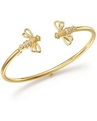 Temple St. Clair - 18k Yellow Gold Bee Bellina Diamond Bangle Bracelet - Lyst