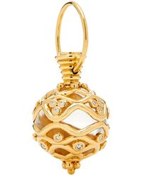Temple St. Clair - 18k Yellow Gold Theodora Rock Crystal Amulet With Diamonds - Lyst