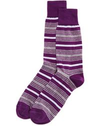 Bloomingdale's - Boat Stripe Socks - Lyst