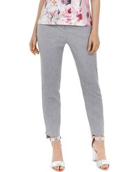 Ted Baker - Daizit Textured Straight-leg Pants - Lyst