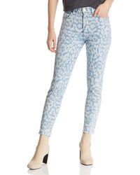 Current/Elliott - The Stiletto High-rise Cropped Skinny Jeans In Inky Leopard - Lyst