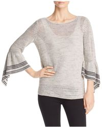NIC+ZOE - Nic+zoe Travelling Bell-sleeve Top - Lyst