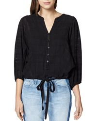 Sanctuary - Indio Cotton Tie-front Top - Lyst