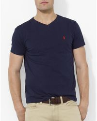 Polo Ralph Lauren - Cotton V Neck Tee - Lyst