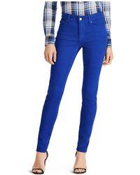 Ralph Lauren - Lauren Skinny Jeans In Blue - Lyst
