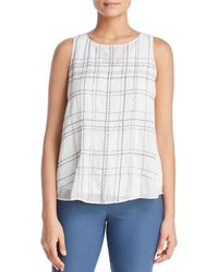 NIC+ZOE - Nic+zoe In The Lines Embroidered Top - Lyst