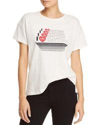 Rag & Bone - White Daytona Vintage T-shirt - Lyst