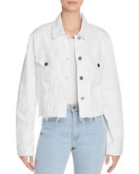 Pistola - Naya Raw-edge Cropped Denim Jacket - Lyst