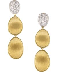 Marco Bicego | Diamond Lunaria Three Drop Small Earrings In 18k Gold | Lyst