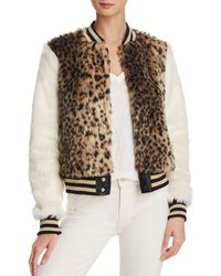 Mother - The Baseball Printed Faux-fur Jacket - Lyst