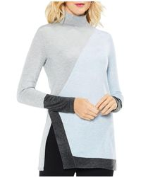 Vince Camuto - Color-block Tunic Jumper - Lyst