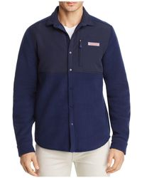 Vineyard Vines - Fleece Shirt Jacket - Lyst