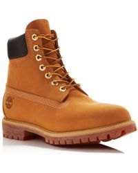 9267c92d93d84 Lyst - Timberland The Icon 6 Premium Boot in Burgundy Nubuck in Red ...