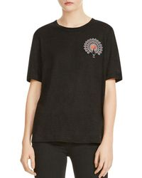Maje - Tina Peacock Embroidered Tee - Lyst