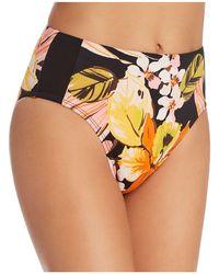 Robin Piccone - Mila High Waist Bikini Bottom - Lyst
