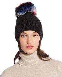 Kyi Kyi - Slouchy Hat With Fox Fur Pom-pom - Lyst