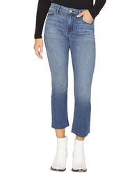 Sanctuary - Connector Kick Cropped Jeans In District Blue - Lyst