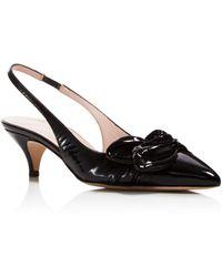 18947f36845e Kate Spade - Women s Ophelia Patent Leather Slingback Pumps - Lyst
