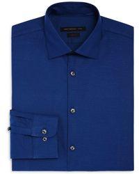 John Varvatos - Textured Solid Slim Fit Stretch Dress Shirt - Lyst