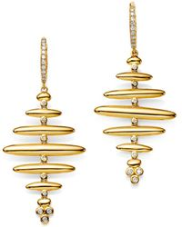 Temple St. Clair - 18k Yellow Gold Pavé Diamond Large Hive Earrings - Lyst