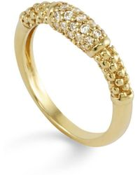 Lagos - 18k Gold And Diamond Ring - Lyst