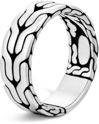 John Hardy - Classic Chain Sterling Silver Band Ring - Lyst