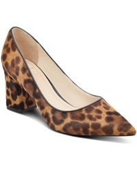 Marc Fisher - Women's Zalaly Leopard Print Calf Hair Court Shoes - Lyst