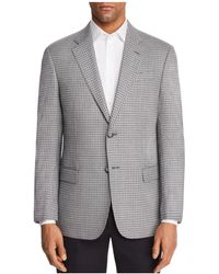 Emporio Armani - Check Stitch Regular Fit Sport Coat - Lyst