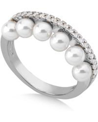 Majorica - Simulated Pearl Ring In Sterling Silver - Lyst