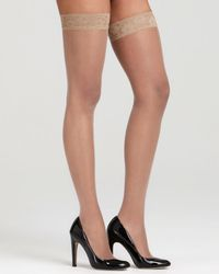 Hue - French Lace Thigh Highs - Lyst
