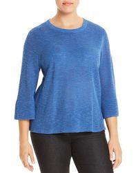 Eileen Fisher - Three-quarter Sleeve Sweater - Lyst