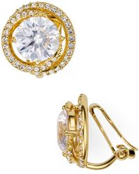 Nadri - Round Clip-on Earrings - Lyst