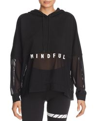 Alo Yoga - Perspective Mesh Detail Hooded Sweatshirt - Lyst