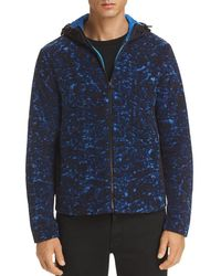 Michael Kors - Mixed-media Fleece Hooded Jacket - Lyst