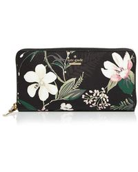 Kate Spade - Cameron Street Botanical Lacey Saffiano Leather Wallet - Lyst