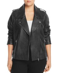 Lucky Brand - Studded Leather Moto Jacket - Lyst