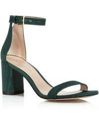 Stuart Weitzman - Women's Lessnudist Grosgrain Ankle Strap Sandals - Lyst