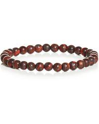 Link Up - Matte Tiger's Eye Bead Bracelet - Lyst