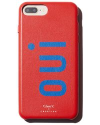 Clare V. - X Casetify Oui Leather Iphone 6/7/8 Plus Case - Lyst